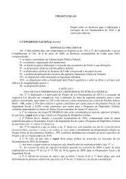 Texto do Projeto de Lei - Ministério do Planejamento