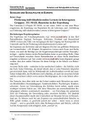 EU-MAIL-Bausteine in der Erprobung