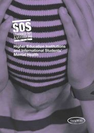 Higher Education Institutions and International Students' Mental Health