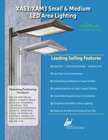 XAS3/XAM3 Small & Medium LED Area Lighting - LSI Industries Inc.