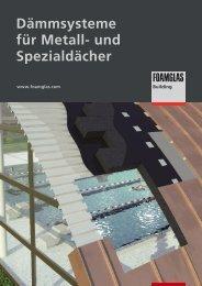 Dämmsysteme für Metall- und Spezialdächer - Foamglas