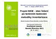 Projekt NIKM - CENIA, česká informační agentura životního prostředí