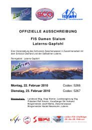 Ausschreibung - Schiclub Oberland