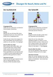 Übungen für Bauch, Beine und Po - NetDoktor.de