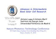 Advances in Intermediate Band Solar Cell Research - Nature ...