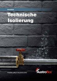 WATTS Austroflex Preisliste Isolierung