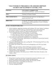 Student Coordinator - Student Development Services
