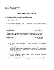 Problemas de Engenharia Genética - Biologia Molecular e Genética
