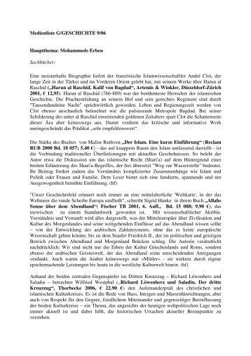 Heft 09/2006 | Aufbruch des Islam - G/Geschichte