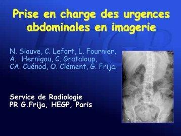 Prise en charge des urgences abdominales en imagerie