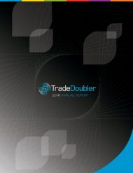 TradeDoubler Annual Report 2006