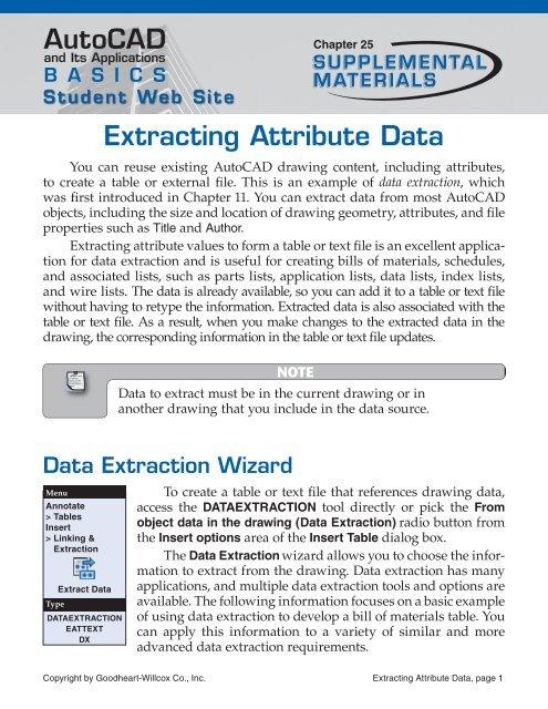 AutoCAD Extracting Attribute Data