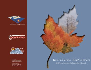 2008 Annual Report on the Status of Rural Colorado