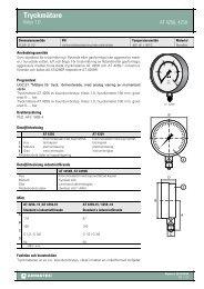 för Tryckmätare - Klass 1,0 - Armatec