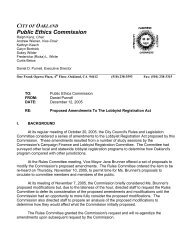 A Report And Action To Be - City of Oakland