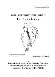der zerbrochene Krug in Salzburg I-H-1 - vom Dorfrichter ... - Leeb Oel