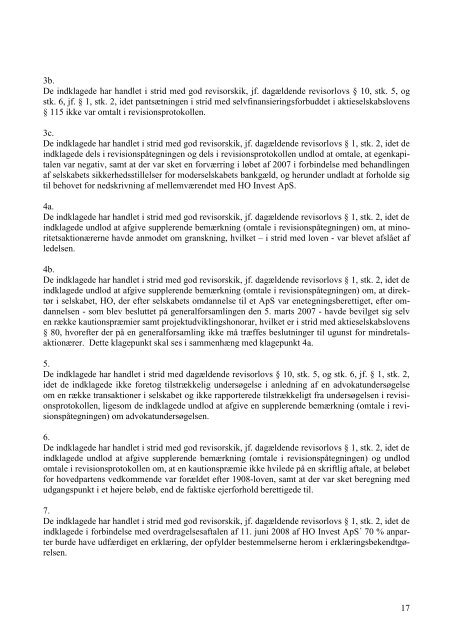 1 Den 10. maj 2010 blev i sag nr. 75/2008 - S K ... - Revisornævnet