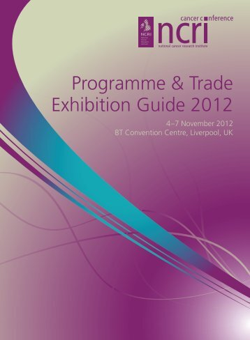 Programme (PDF) - (NCRI) Cancer Conference 2013 - National ...