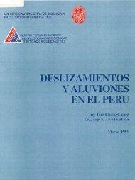 Deslizamientos y Aluviones en el Perú - Dr. Ing. Jorge Elias Alva ...