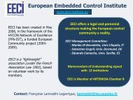 European Embedded Control Institute - balcon-project