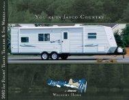 2002 AY FLIGHT TRAvEL TRAILERS & 5TH W HEELS - Jayco