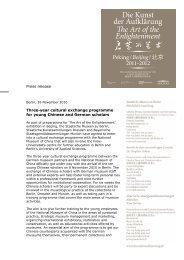 Die Kunst der Aufklärung - Kulturaustauschprogramm ENGLISCH