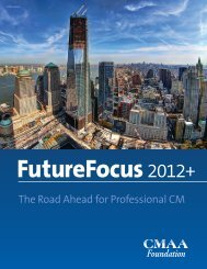The Road Ahead for Professional CM - CMAA