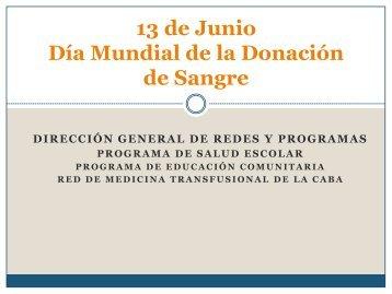 Día Mundial de la Donación de Sangre - Buenos Aires Ciudad