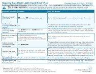 Regence BlueShield Summary of Benefits - LOTT Clean Water ...