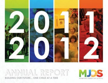 View annual report - Milwaukee Jewish Day School