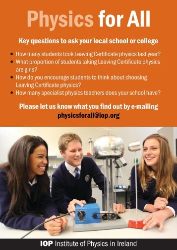 Physicsfor All - The Institute of Physics in Ireland
