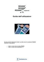 RD2000 RD2000 RD2000 e T1 Guida dell'utilizzatore - vivax.it