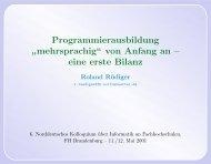 """mehrsprachig"""" von Anfang an – eine erste Bilanz - Public.fh ..."""