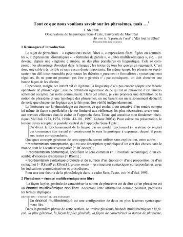 PDF (358KB) - Observatoire de linguistique Sens-Texte (OLST)
