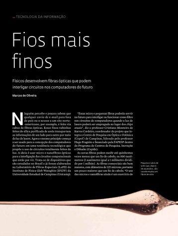 fios mais finos - Revista Pesquisa FAPESP