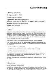 Protokoll AG 6 - 1. Sitzung - Kultur im Dialog