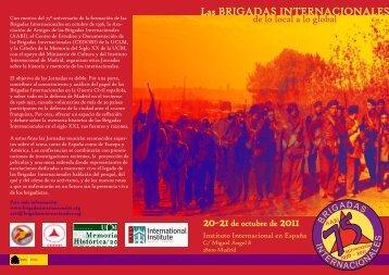 Las Brigadas Internacionales - Universidad Complutense de Madrid