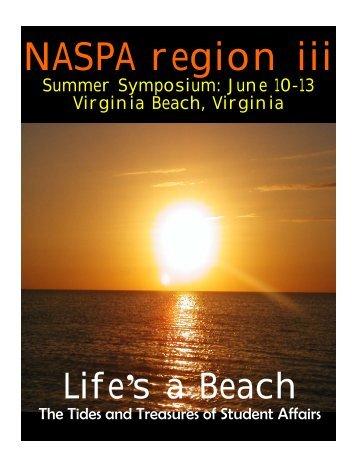 NASPA Summer Symposium Program Booklet