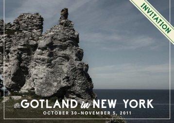 GOTLAND NEW YORK - Visit Sweden