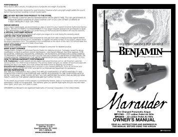 Crosman Recruit Air rifle manual