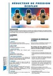 Réducteur de pression ÉCOFLUX - Watts Industries