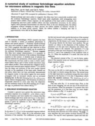 Numerical solutions of the nonlinear Schrödinger equation for ...
