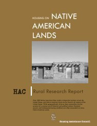 Housing in Native American Lands - Housing Assistance Council