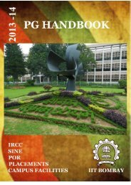 PG Handbook - Gymkhana - Indian Institute of Technology, Bombay