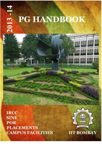 PG Handbook - Gymkhana - Indian Institute of Technology, Bombay