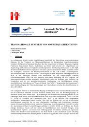 "Leonardo Da Vinci Project ""Bricklayer"" - FIEC"