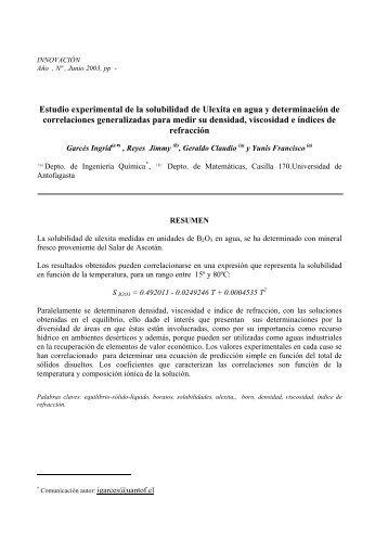 Solubilidad -Ulexita - Universidad de Antofagasta