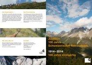 2014 100 Jahre einzigartig - Schweizerischer Nationalpark