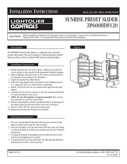 sunrise preset slider zp600hdf120 philips lighting controls