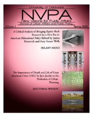 New Visions for Public Affairs Volume 1 - School of Public Policy ...